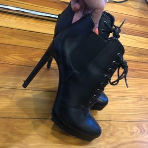 Zara lace up stiletto boot
